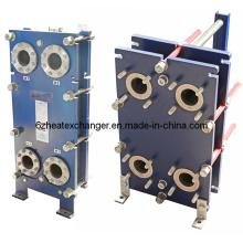 Intercambiador de calor de placas utilizado en aplicaciones marinas
