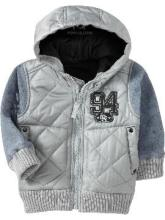 Classic hood varsity jacket for kids
