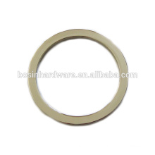 Moda de alta qualidade de zinco metal anel de rodada de volta para a bolsa