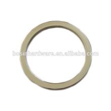 Мода высокого качества металла цинковый сплав круглого кольца для сумочки