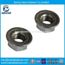 DIN fabricante padrão chinês em estoque Aço hex A2 flange porca