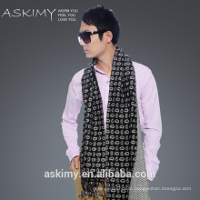 2015 fashion100% wool men scarf