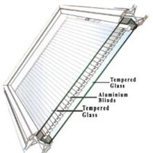 Vidrio de doble acristalamiento templado de baja emisividad con persiana interior