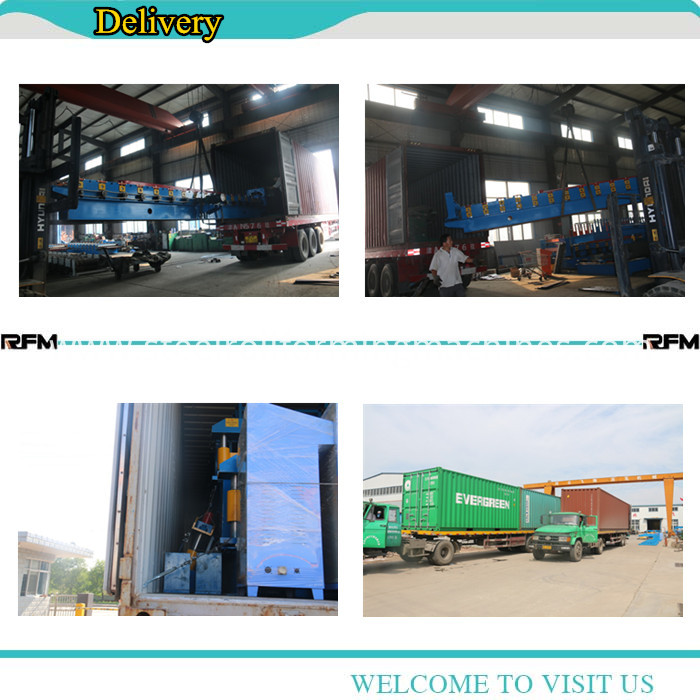 Corrugated steel sheet making machine