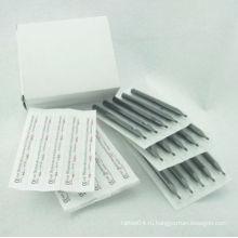 Box Of 50 Черный Длинные стерильные одноразовые пластиковые татуировки Советы Насадка питания