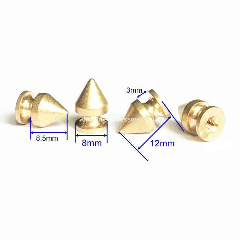 Parafusos De Cone De Bronze Screwback Studs para Leathercrafts De DIY