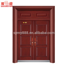 La porte principale moderne conçoit la porte extérieure à deux battants en acier de sécurité extérieure