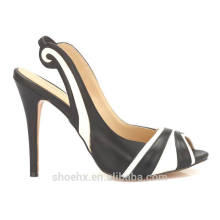 сексуальные дамы обувь тонкий каблук летняя обувь зебра-полоса сандалии моды