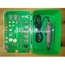 135w 217pcs GS CE EMC ROHS Aprobación de ETL Mini Accesorio de la amoladora eléctrica Juego de herramientas rotatorio de la manía de la energía portable