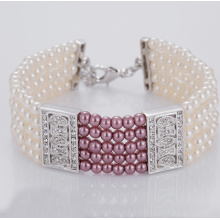 Buy Multi Strand Fake Pearl Bracelet