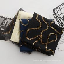 Meilleure vente de mode femmes voyagent écharpe châle pakistan couleur unie écharpe de tassel de coton