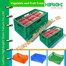 portable plastic vegetable crates with hollowed handles