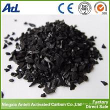гранулированный активированный уголь на основе кокосовой скорлупы фракции 6х12 для добычи золота