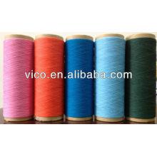 Hilo de algodón reciclado / regenerado para tejido de guante y calcetín