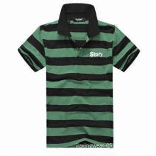 Men's Short-sleeve Polo Shirt with Quick Dry and Anti-bacteria Performance, OEM Orders Accepted