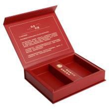 gift tea bag box gold foil with magnet