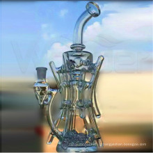 Tabac de pipe de main de gril de tuyau de couleur de tuyau de recycleur de tuyau d'OEM / ODM