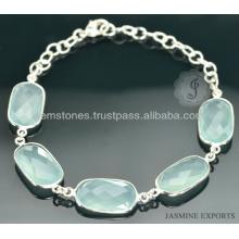 Оптовый Поставщик для красивые серебряные кварц драгоценный камень ювелирных изделий Браслет для женщин