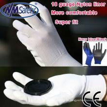 Empresa de fornecimento de mão-de-obra NMSAFETY 18 gauge PU gloves