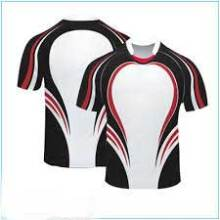Full Sublimated Men Rugby Training T Shirts Desportos Profissionais Rugby Uniformes