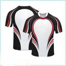Sublimated White Blue Striped Design Rugby Jersey 2016