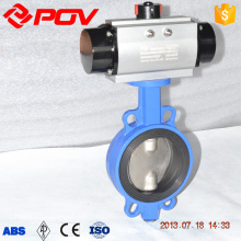 1 inch cast iron wafer pneumatic butterfly valve