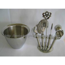 7-Piece Stainless Steel Bar Set