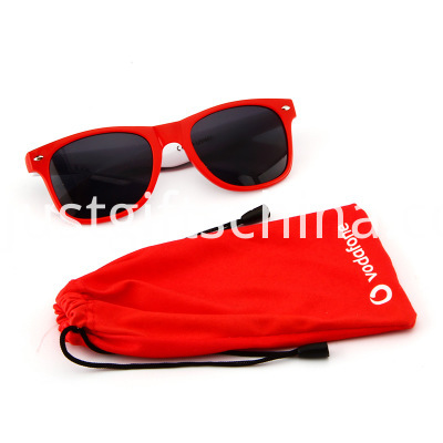 Promotional Retro Square Style Sunglasses Red Color