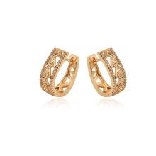97418 xuping couleur doré zircon synthétique mode dames exquis cerceau boucles d'oreilles
