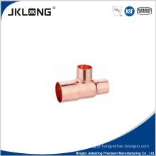 T de redução de cobre forjado J9102 Conexão de tubo de cobre de 1 polegada
