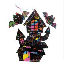 Хэллоуин дети DIY бумажная карточка скреста печатание