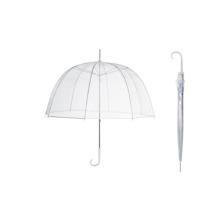 Guarda-chuva de dobramento plástico transparente impermeável de 23''8ribs