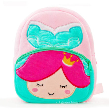 Custom 3D Cute Kindergarten Mermaid Animal Children Plush School Bags Backpacks