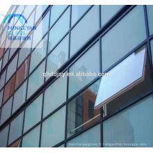 mur de verre de bâtiment isolé à faible émissivité
