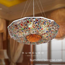 high quality CE and Rohs decorative glass pendant lamp