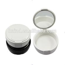Beliebte Dental Plastic Retainer Denture Box / Fall mit Spiegel
