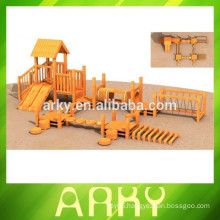 2014 kids outdoor wood playground for exercise