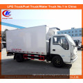 Caminhão da caixa do congelador de 8 toneladas Isuzu no caminhão refrigerador do portador
