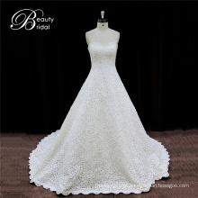 Vestidos de noiva de cetim de estilo espanhol