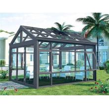 Pequeña casa de vidrio de aluminio para propiedades de alta gama.