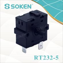 Interruptor rotativo de aquecimento elétrico Soken