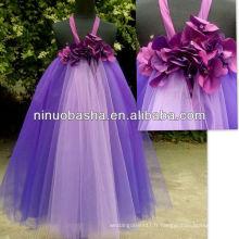 NW-397 Fleurs à la main Tulle jupe Robe fille fleur