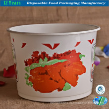 Einweg-Plastik-Eimer für Lebensmittel / Suppe