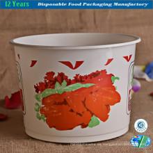Cubo de plástico desechable para comida / sopa