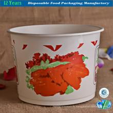 Seau en plastique jetable pour nourriture / soupe