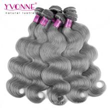 Color gris brasileño Remy cabello humano
