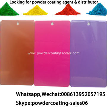 pure polyester smooth glossy flat effect powder coating