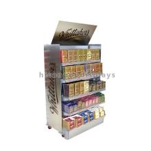 4 Ruedas 5-Tier en tienda Chocolate Sweets Stands Display, Stand de exhibición de metal Stands For Trade Show