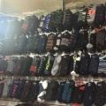 Оптовые продажи сыпучих запасов товаров инвентаризации мужчин и женщина Носки