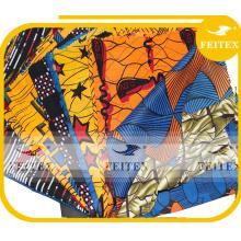 Производитель кожа персика Китай новая мода ОДМ спандекс африканский принт полиэстер ткани одежды